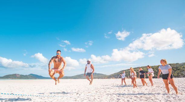 Take part in the Beach Games at Whitehaven Beach