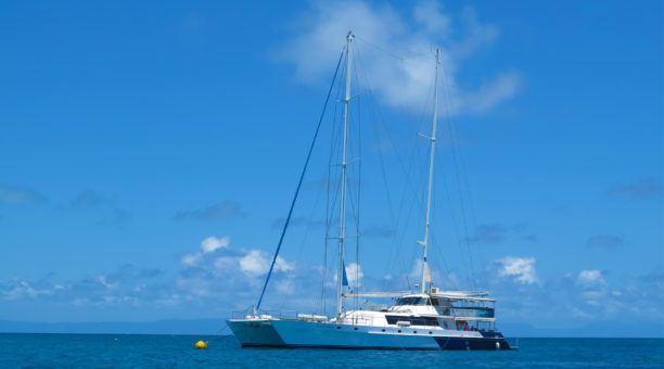 Snorkel off the beautiful Ocean Spirit catamaran